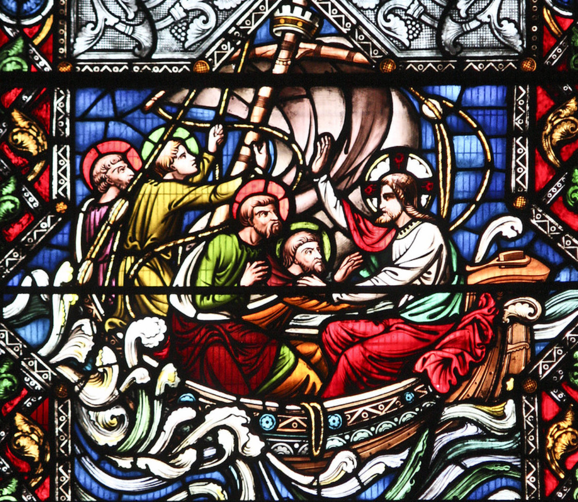 """""""Christ Calms the Storm"""", by Lawrence OP, https://www.flickr.com/photos/paullew/6017120838, licensed under CC BY-NC-ND 2.0 https://creativecommons.org/licenses/by-nc-nd/2.0/"""