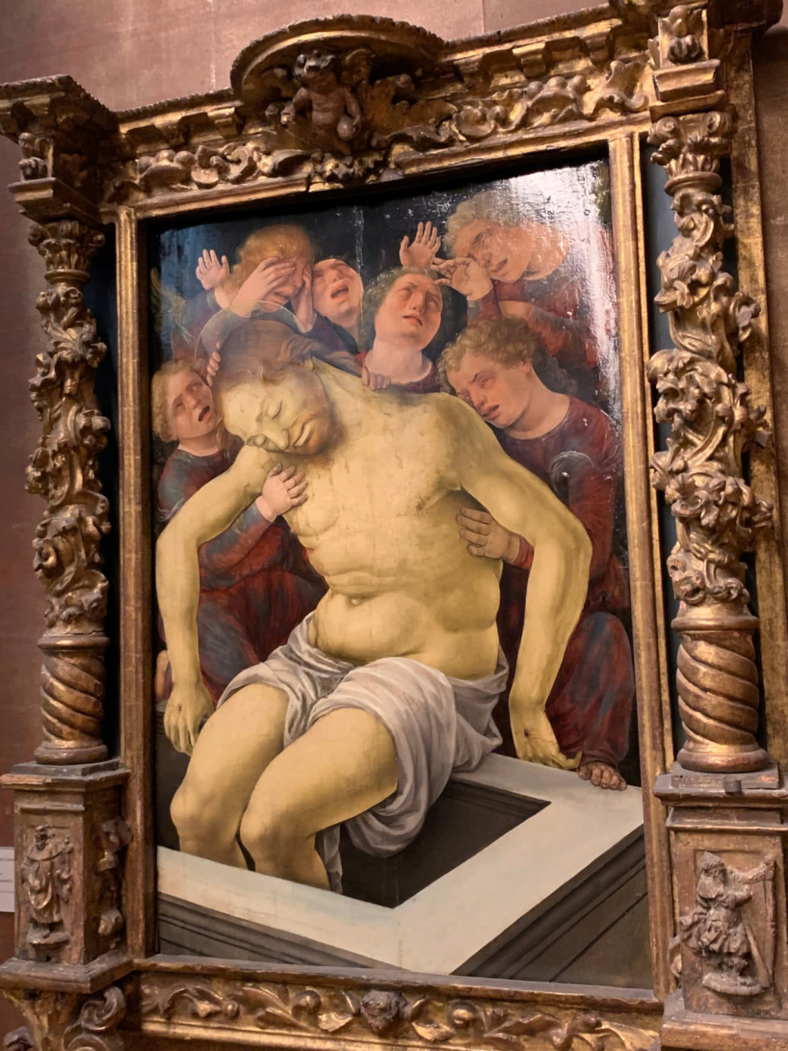 The Dead Christ Supported by the Mourning Angels (Liberale da Verona, c.1445–c.1526)